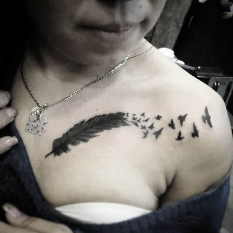 30 Chest Tattoos For Women That Draw Approving Eyes Ritely