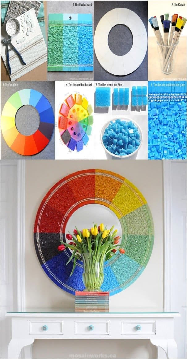 24 Beautiful DIY's To Decorate A Wall Mirror