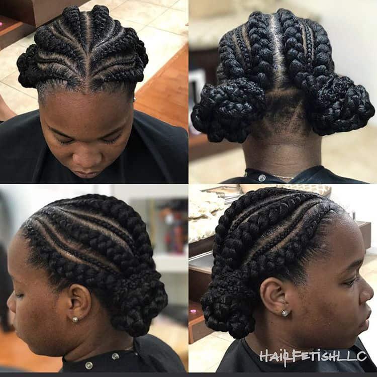30 Gorgeous Ghana Braids For An All-Black Style
