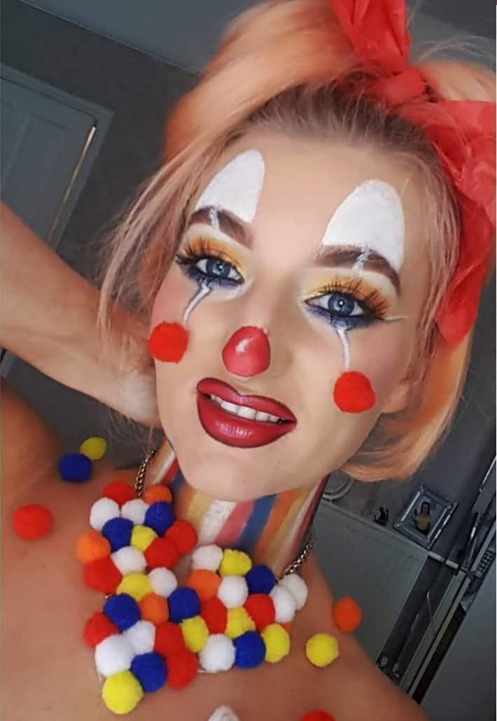 Clown eye makeup