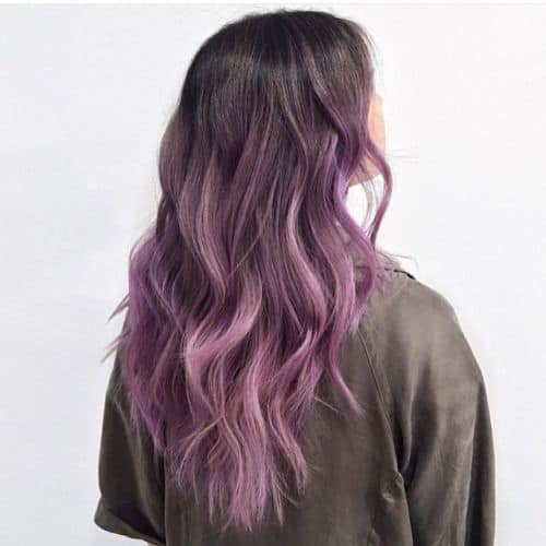 30 Purple Balayage Hairstyles For Soft, Yet Energetic Look