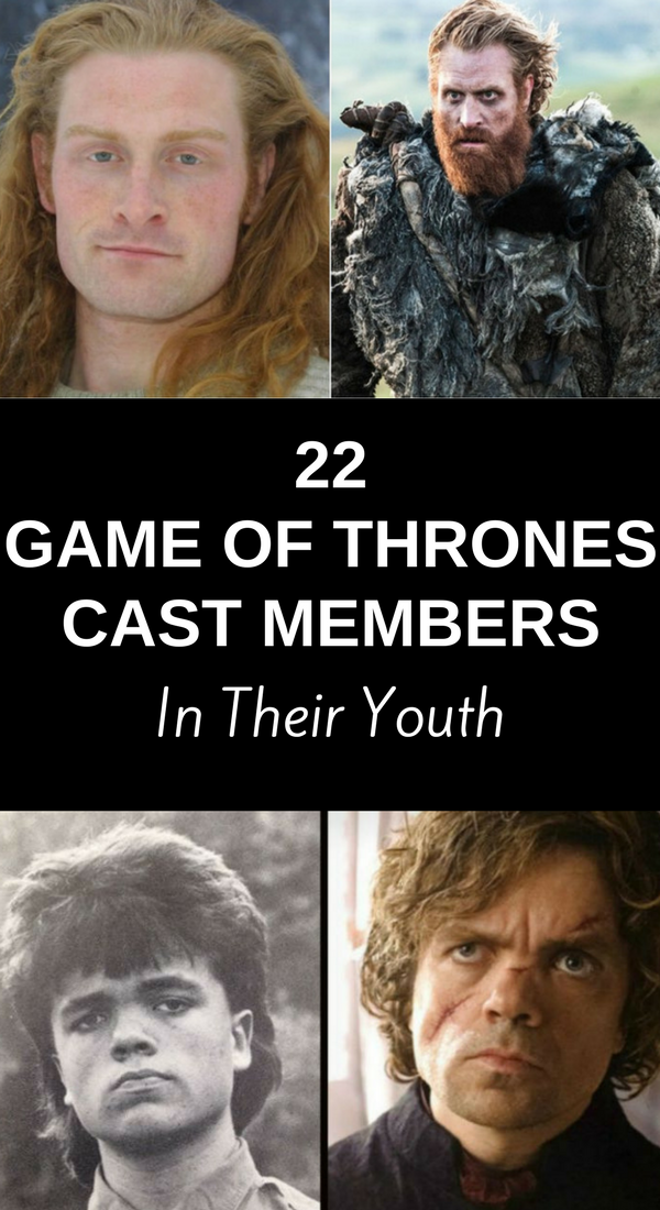 "22 ""Game of Thrones"" Cast Members in Their Youth"