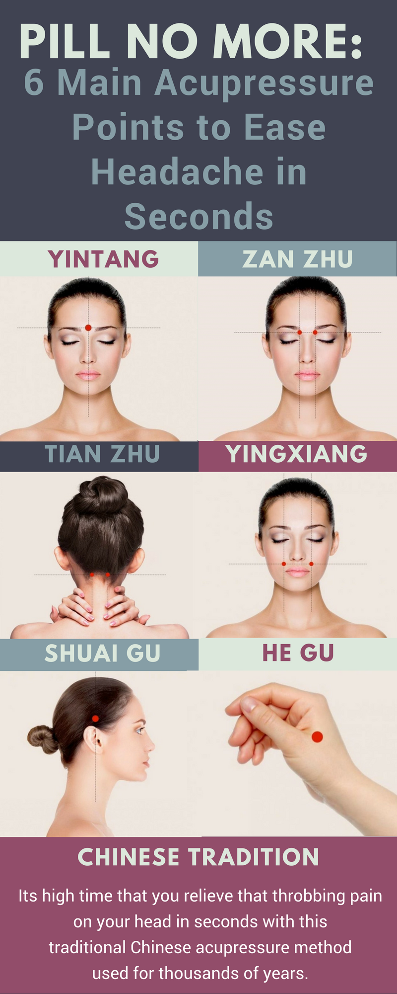Pill No More: 6 Main Acupressure Points to Ease Headache in Seconds
