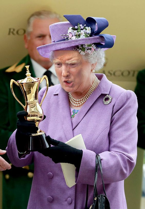 You Cannot Stop Laughing at Trump's Face on Queen Elizabeth's Body