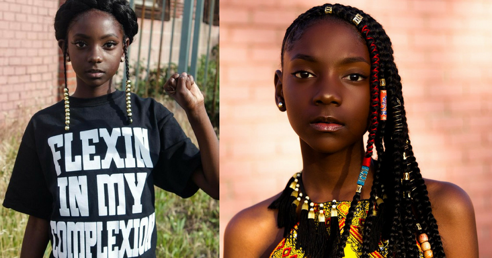 Flexin' In My Complexion: 11-Year Old Girl Bullied Over Her Dark Skin Now Owns Celebrity-Worn Clothing Line