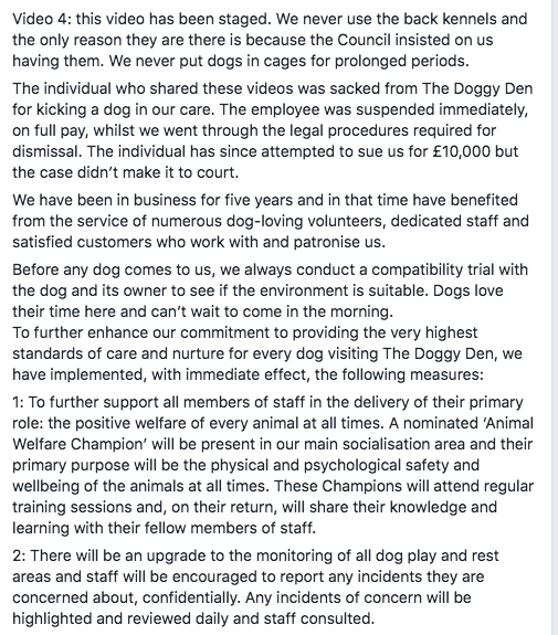 This Staff Got Caught on Camera Abusing Dogs at Doggy Den, in Sheffield, England