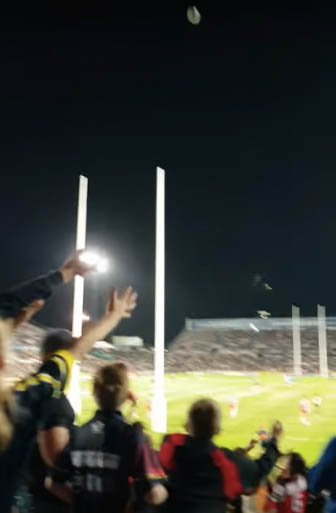 Flying Rugby Ball Whacks Boy's Face While He's Not Paying Attention