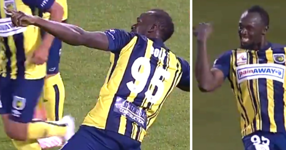 Usain Bolt Scores His First Goal As Professional Football Player