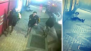 Man Knocks Down Older Guy in the Sidewalk After One-punch Attack